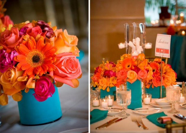 coral-and-acqua-wedding-centerpieces