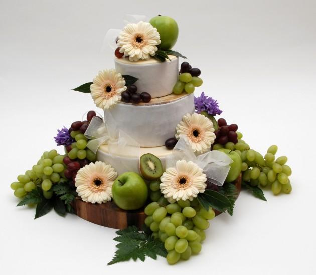 Cheese wedding cake Purely Wensleydale
