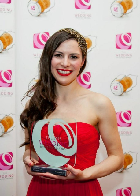 Hermione Harbutt Best Wedding Accessories Award Wedding Industry Awards 2013