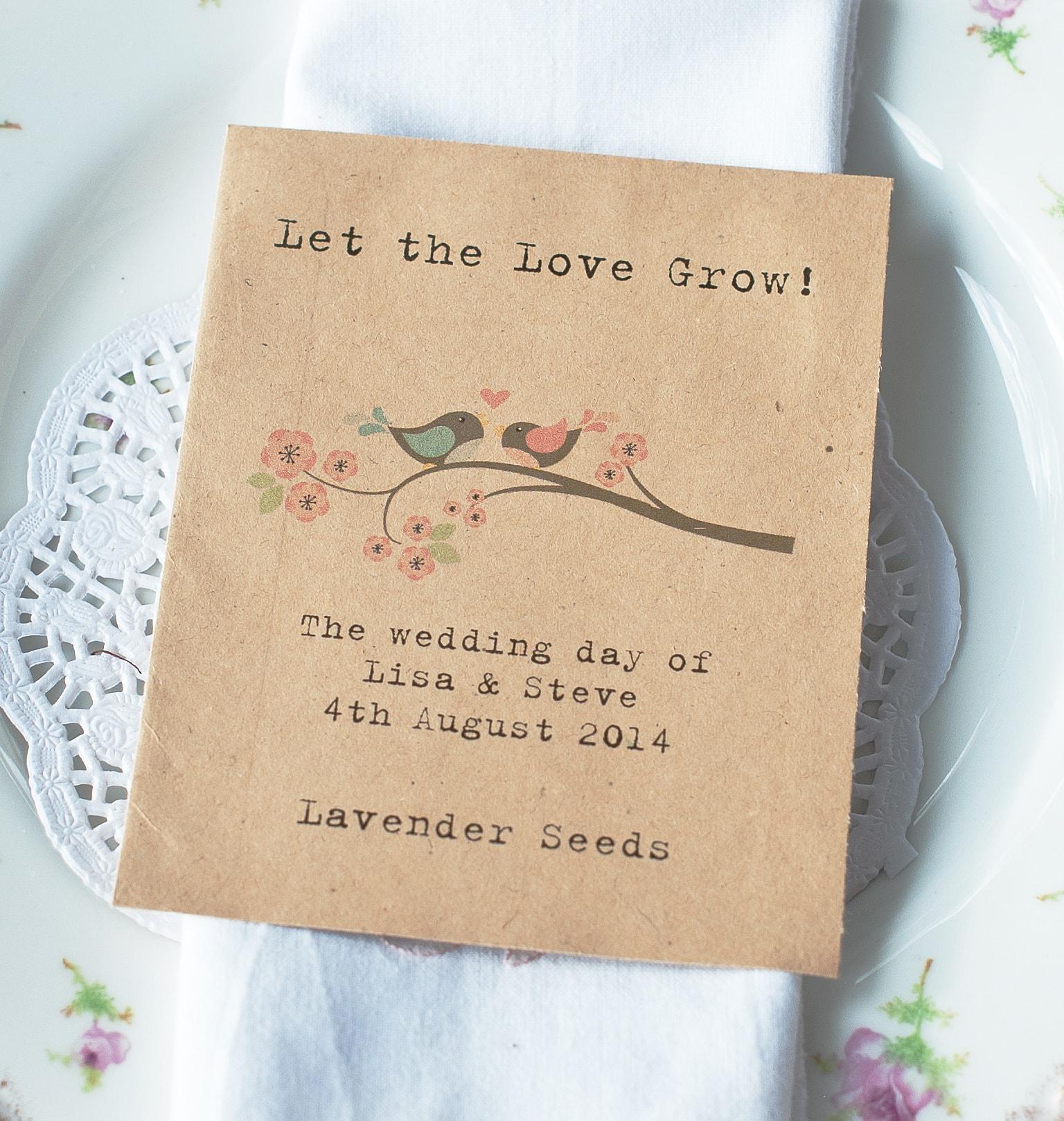 wild flower seeds wedding favor