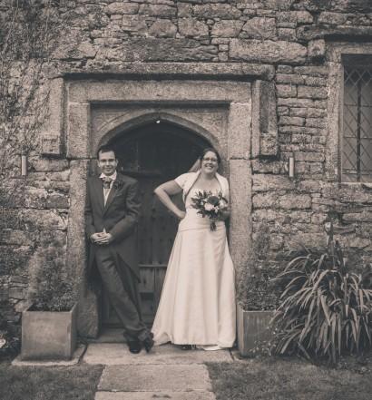 Couple at front door