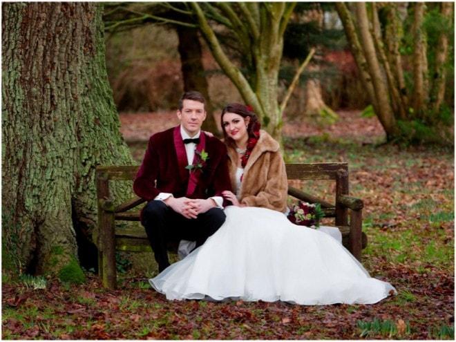 Couple In Woods | Deer Park Wedding Christmas Shoot | Ultimate Wedding Magazine