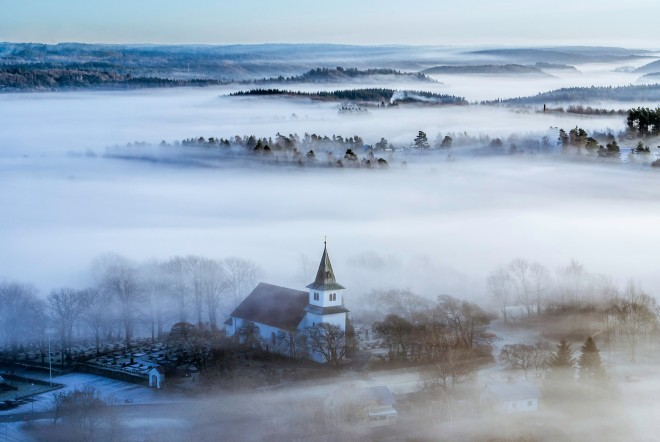 Small Town In Fog | Mini moon In Sweden | Ultimate Wedding Magazine