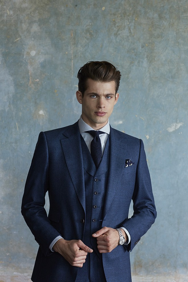 Navy Suit | Chester Barrie Unveil AW15 Collection