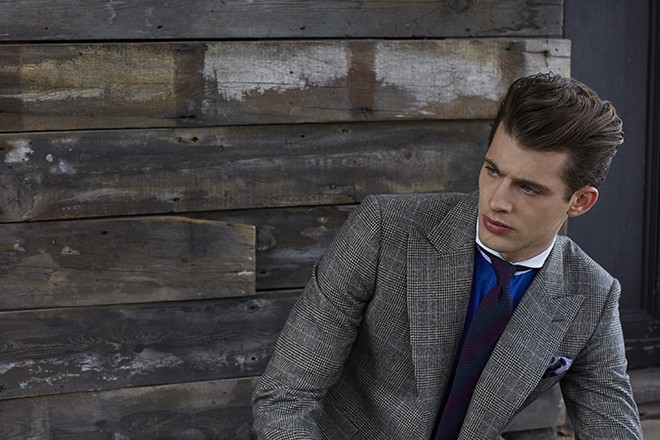 Grey chequered suit | Chester Barrie Unveil AW15 Collection