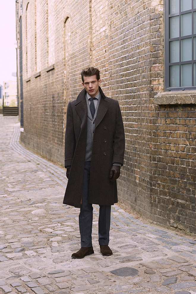 Mens winter coat | Chester Barrie Unveil AW15 Collection
