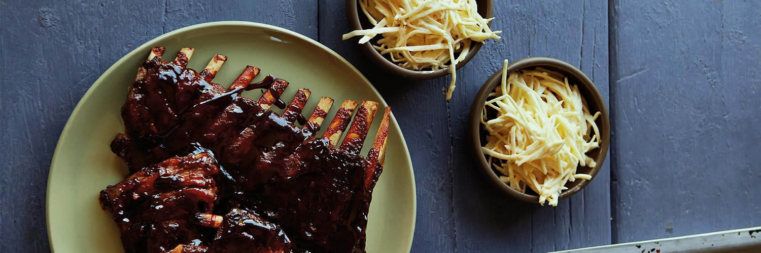 Barbeque Baby Back Ribs with Celeriac Slaw | BBC Good Food Bakes and Cakes Show