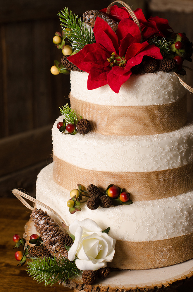 Winter wedding cake | Christmas Chic | Fancy This Photography | Ultimate Wedding Magazine