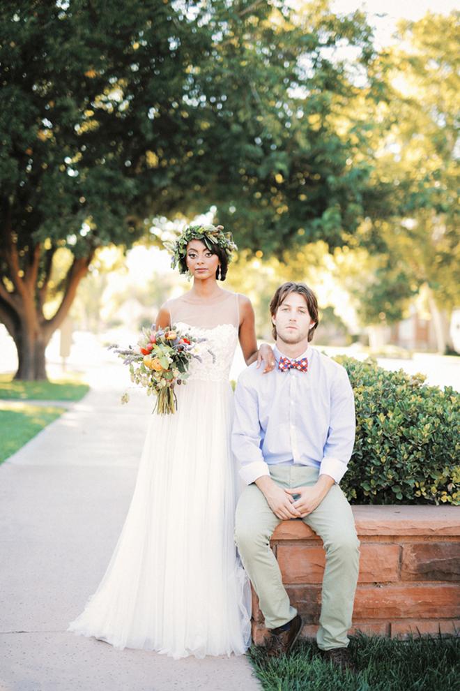 Bride and groom outside | Farm Fresh Style Wedding in Utah | Gideon Photography | Ultimate Wedding Magazine