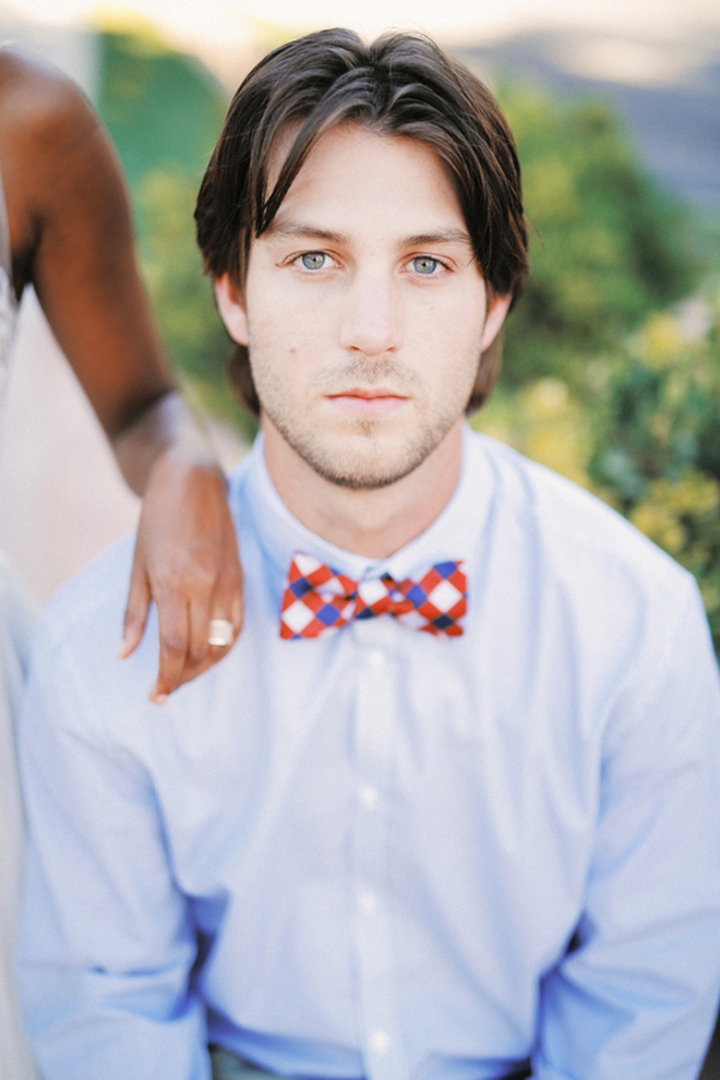 Groom with bowtie | Farm Fresh Style Wedding in Utah | Gideon Photography | Ultimate Wedding Magazine