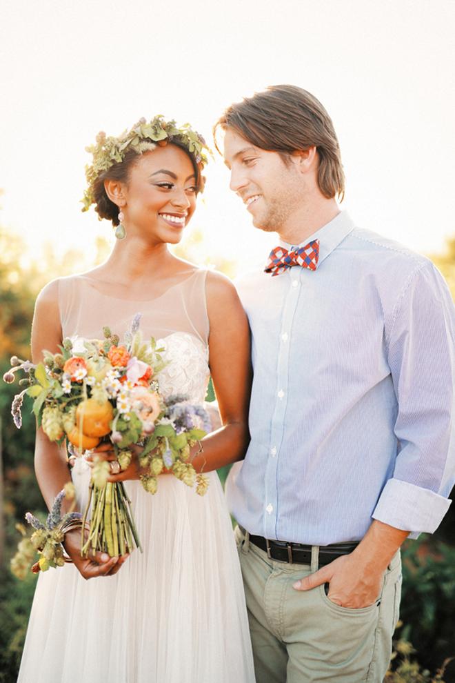 Rustic bride and groom | Farm Fresh Style Wedding in Utah | Gideon Photography | Ultimate Wedding Magazine