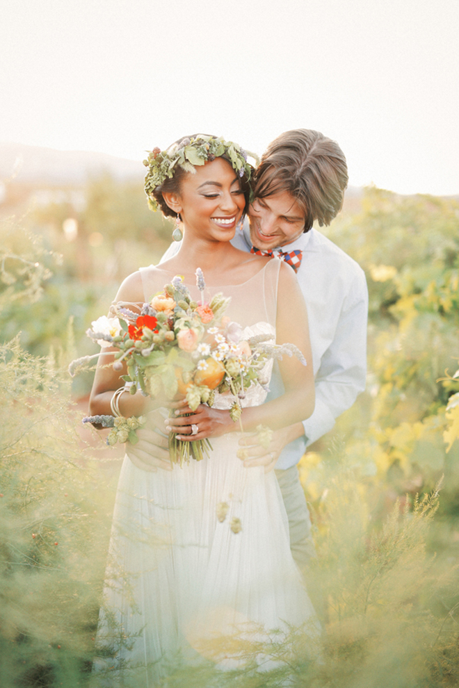 Woman and Man in field | Farm Fresh Style Wedding in Utah | Gideon Photography | Ultimate Wedding Magazine