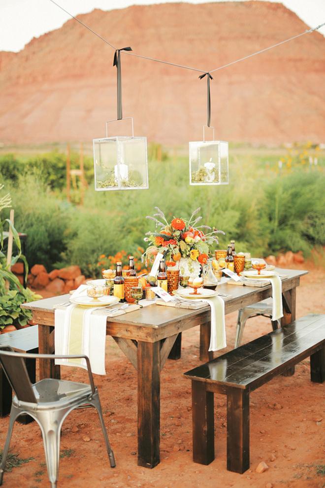 Wedding breakfast decoration | Farm Fresh Style Wedding in Utah | Gideon Photography | Ultimate Wedding Magazine