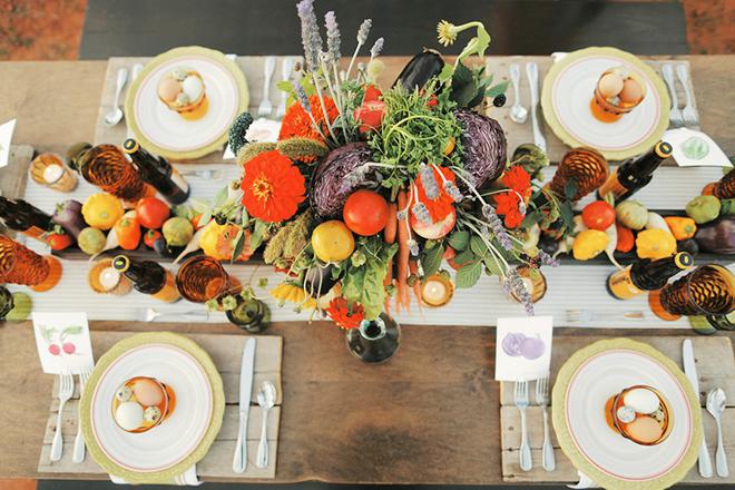 Wedding breakfast table | Farm Fresh Style Wedding in Utah | Gideon Photography | Ultimate Wedding Magazine