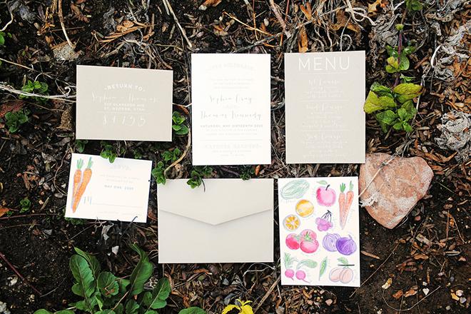 Rustic wedding stationery | Farm Fresh Style Wedding in Utah | Gideon Photography | Ultimate Wedding Magazine