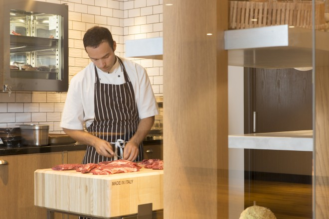 Preparing meat | Crowne Plaza Gerrards Cross Restaurant Review