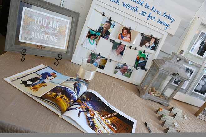 Wedding photo guestbook | Canada joins USA on Lake Erie | Blue Martini Photography