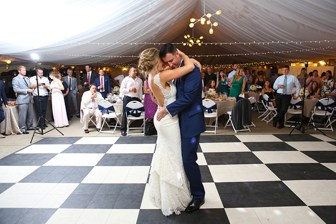 First dance | Canada joins USA on Lake Erie | Blue Martini Photography
