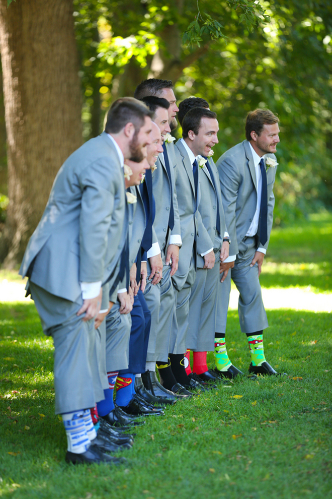 Groomsmen novelty socks | Canada joins USA on Lake Erie | Blue Martini Photography