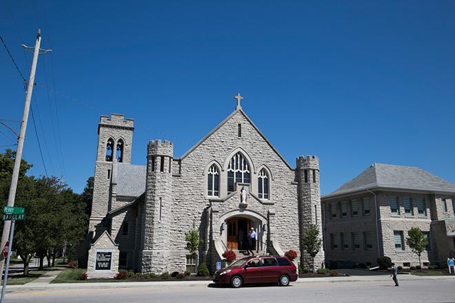 St. Josephs Ohio Wedding | Canada joins USA on Lake Erie | Blue Martini Photography