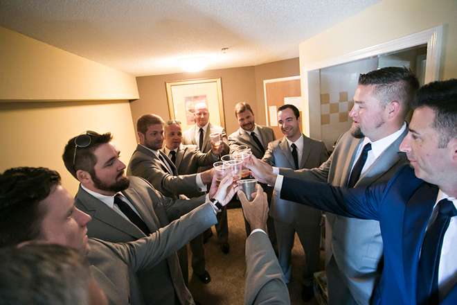 Groom before wedding | Canada joins USA on Lake Erie | Blue Martini Photography