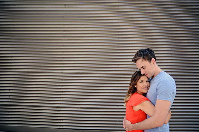 Bride and Groom hugging | Engagement Shoot in Charlotte NC | Catrina Earls Photography