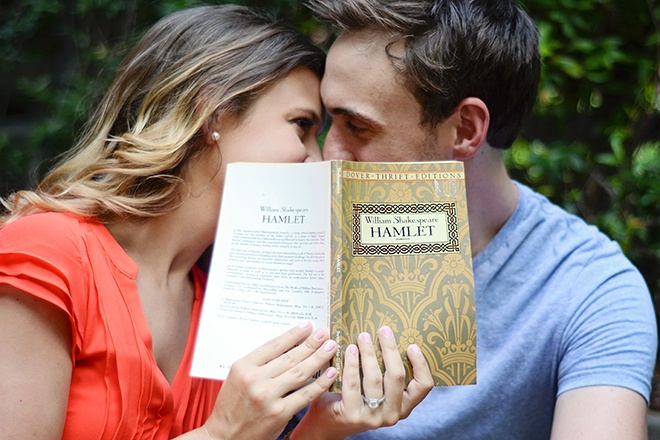 Hamlet Book | Engagement Shoot in Charlotte NC | Catrina Earls Photography