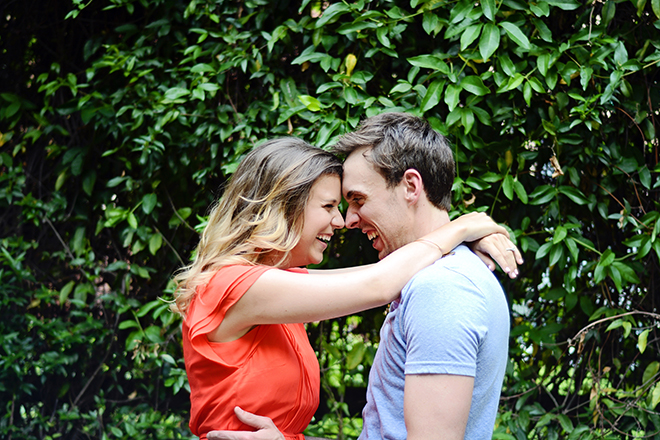 Engaged couple laughing | Engagement Shoot in Charlotte NC | Catrina Earls Photography
