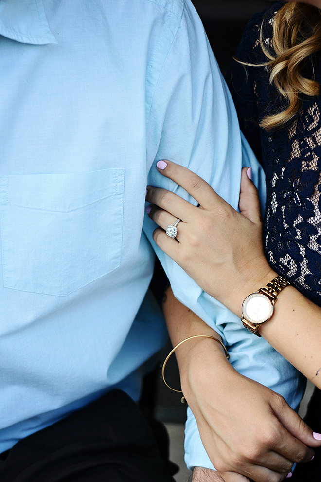 Engagement ring on bride | Engagement Shoot in Charlotte NC | Catrina Earls Photography