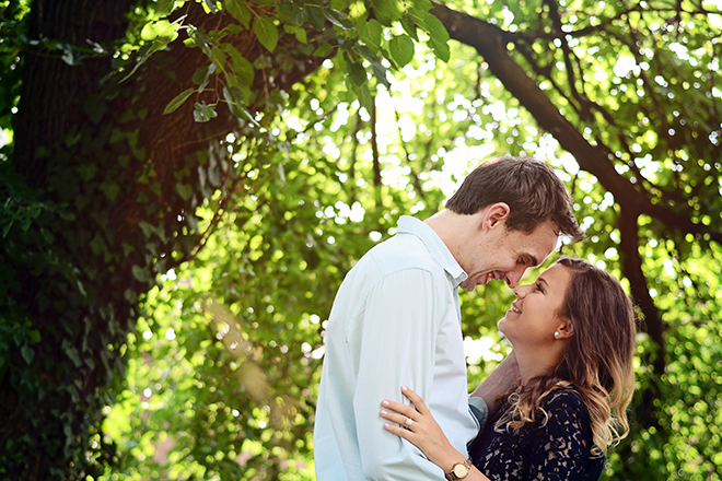 Couple in countryside | Engagement Shoot in Charlotte NC | Catrina Earls Photography