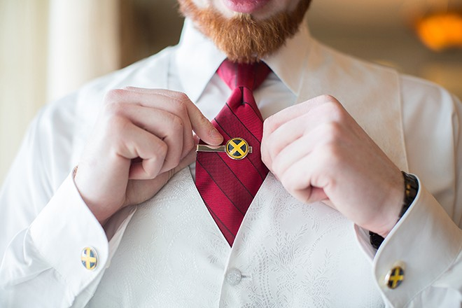 Grooms tie | Regal Winter Wedding | Bokeh Love Photography
