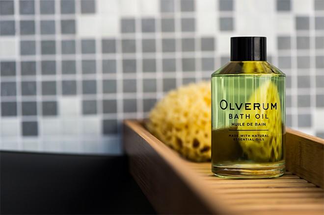 Olverum Bath Oil in bath