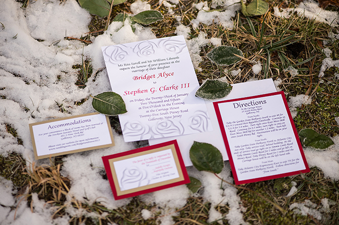 Winter wedding stationery | Regal Winter Wedding | Bokeh Love Photography