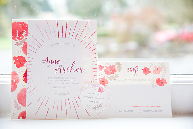 Pink and white wedding stationery | Ombre Pink | Joanna Moss Photography