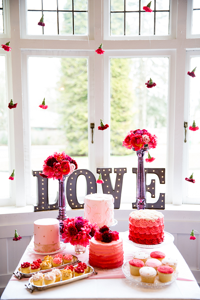 Pink wedding dessert table | Ombre Pink | Joanna Moss Photography