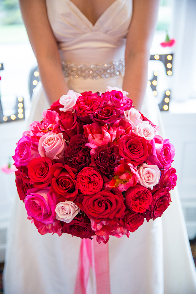 Pink bridal bouquet | Ombre Pink | Joanna Moss Photography