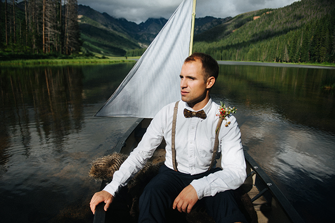 Groom in a boat | Where the wild things are | Elizabeth Cryan Photography