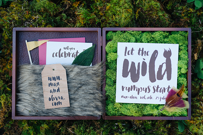 Rustic wedding stationery by Anthologie Press | Where the wild things are | Elizabeth Cryan Photography