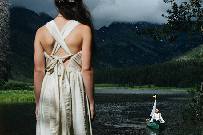 Man and Woman standing at lake | Where the wild things are | Elizabeth Cryan Photography