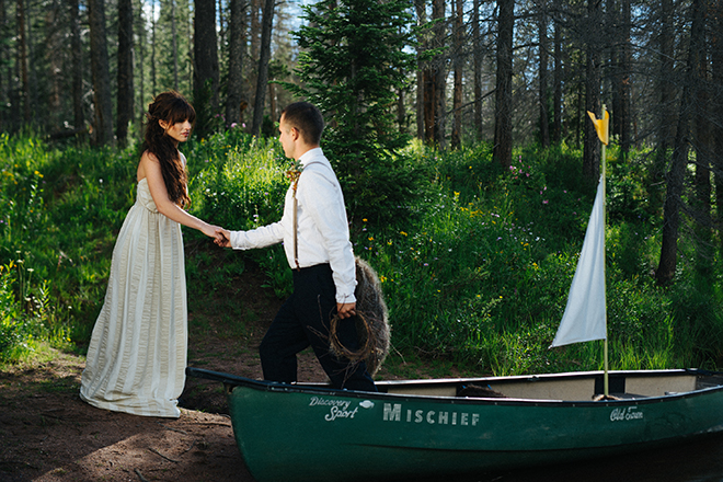 Bride and Groom beside a lake | Where the wild things are | Elizabeth Cryan Photography