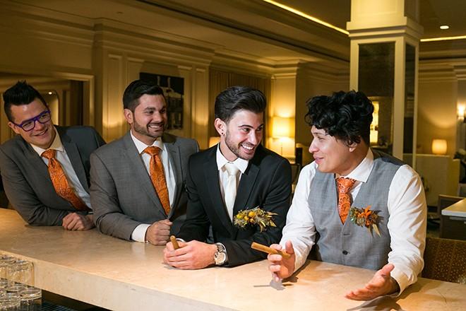 Groom and groomsmen | Grooming the groom | Michael Bennett Kress Photography