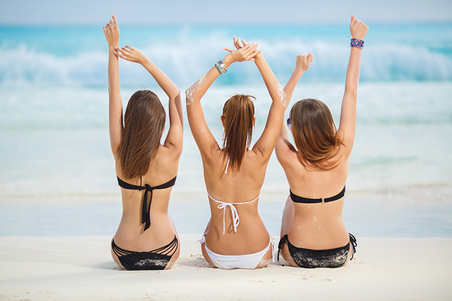 Hen Party Home or Away Women on Beach