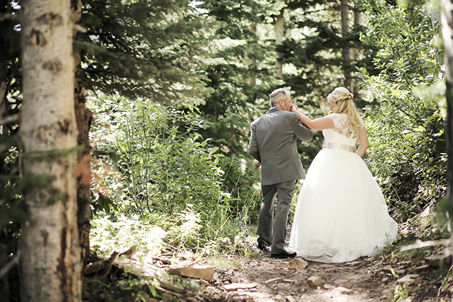 Bride and Groom in woods | Love at 10,000 Feet | Pepper Nix Photography