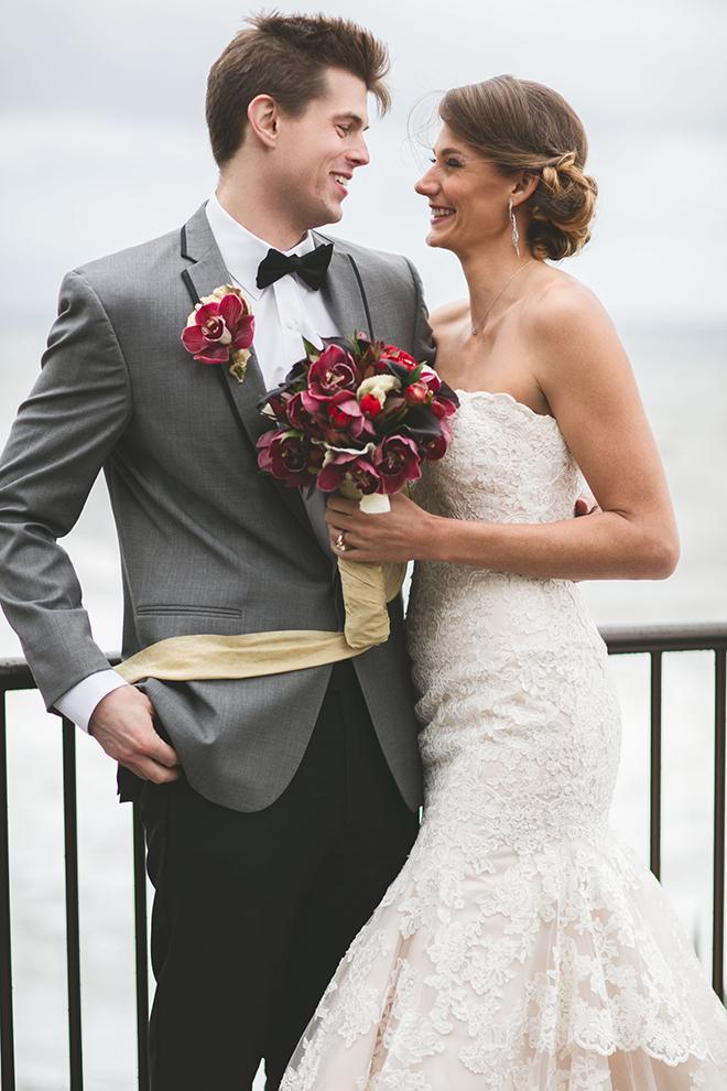 Bride and Groom standing outside | Opulent Romance | Mehta Weddings