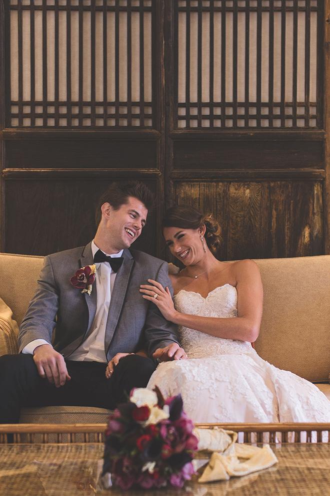 Couple laughing | Opulent Romance | Mehta Weddings
