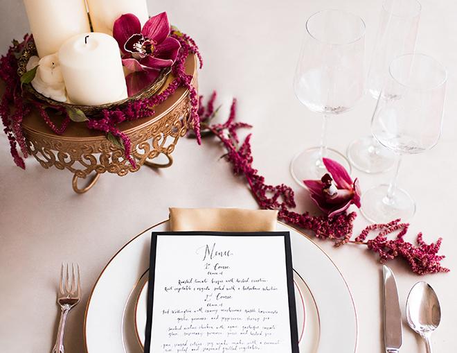 Purple floral centrepiece | Opulent Romance | Mehta Weddings
