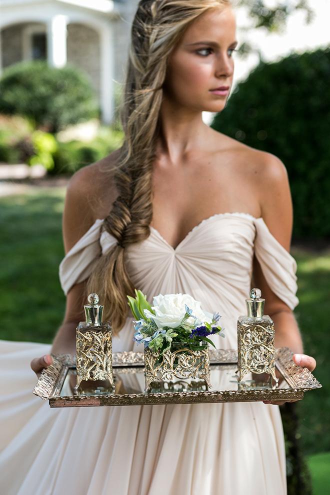 Ornate bridal fragrances | Whimsical Rustic Bride | Michael Bennett Kress Photography