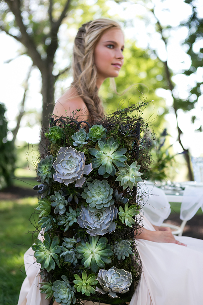 Succulents for weddings | Whimsical Rustic Bride | Michael Bennett Kress Photography