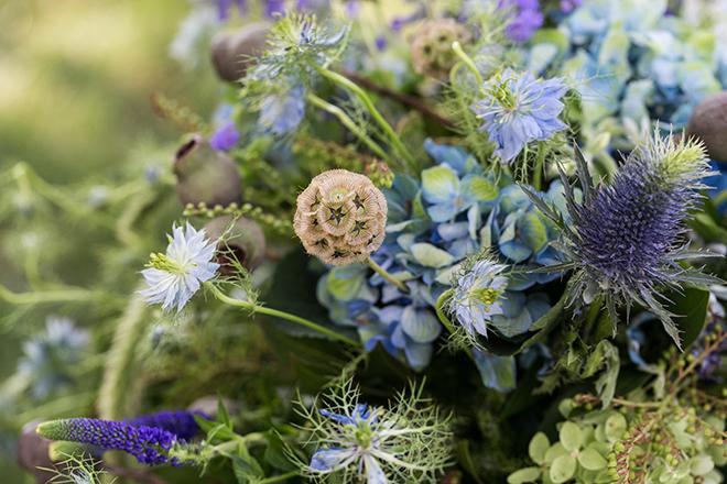 Rustic garden flowers | Whimsical Rustic Bride | Michael Bennett Kress Photography