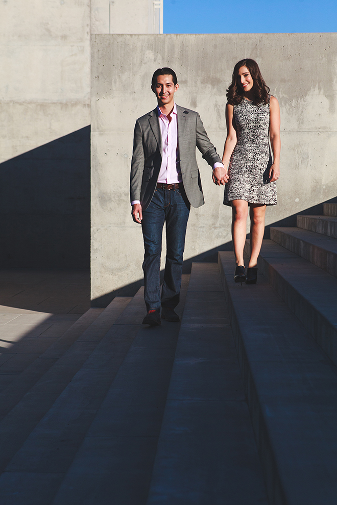 Bride and Groom walking on steps | Arizona Engagement | Eyes 2 See Photography